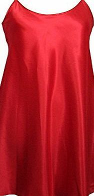 Generic Ladies Satin Chemise / Nightie / Slip - Plain Red - Sizes - 8 - 22 (16/18) A lovely lightweight satin chemise in vivid red with adjustable spaghetti straps. (Barcode EAN = 0741414185944). http://www.comparestoreprices.co.uk/chemises/generic-ladies-satin-chemise--nightie--slip--plain-red--sizes--8--22-16-18-.asp