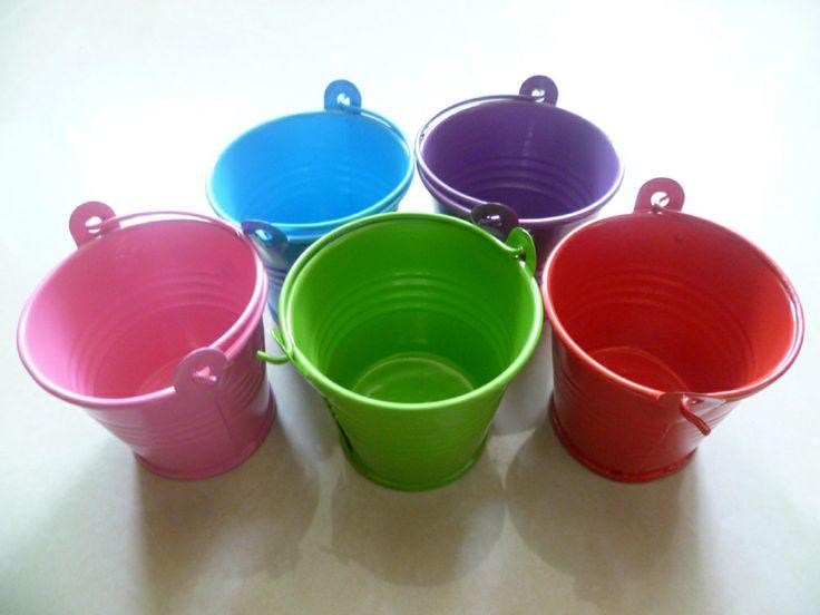 Novo casamento baldes barato partido acessórios do casamento estanho favorece baldes de doces de metal $10.88