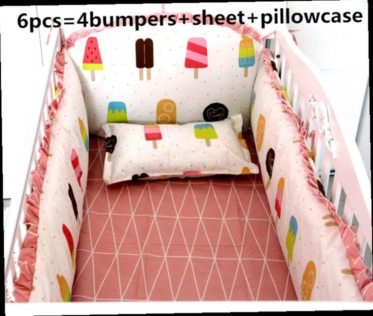 49.80$  Watch here - http://alicgu.worldwells.pw/go.php?t=32517224269 - Discount! 6pcs baby bedding set 100% cotton crib baby cot sets baby bed bumper  ,include(bumper+sheet+pillowcase)