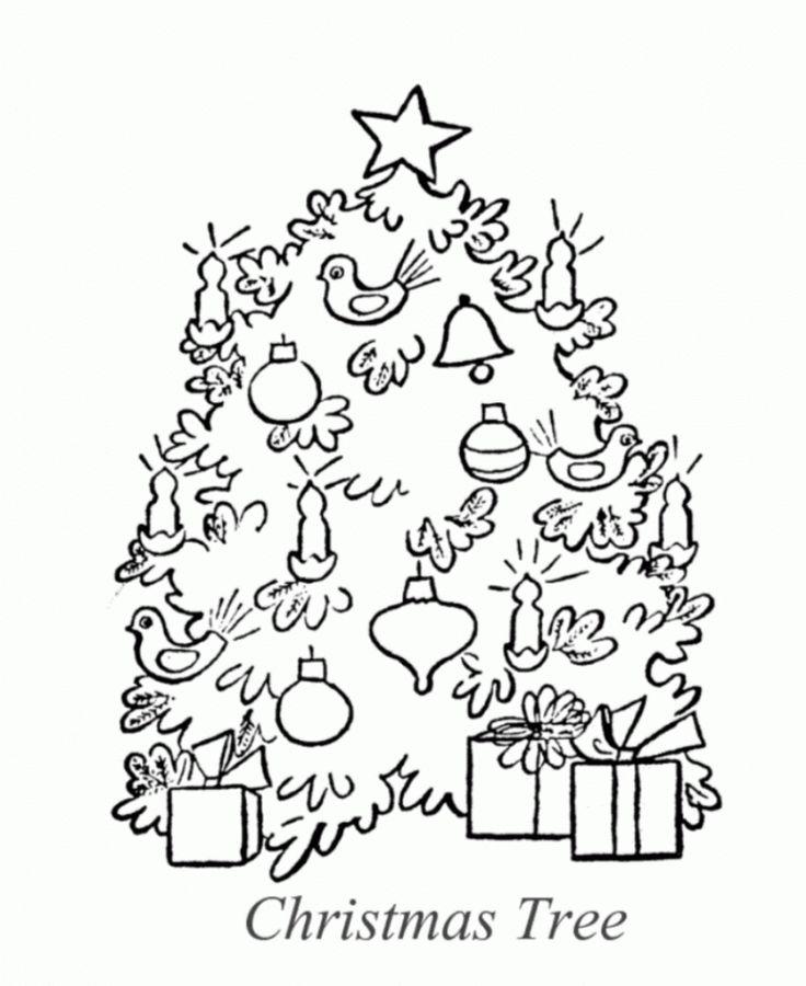 Árvores de Natal para Imprimir e Pintar