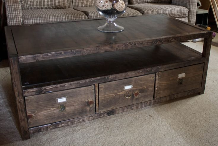 14 Free Plans to Help You Build a Coffee Table: Rhyan Coffee Table Plan from More Like Home