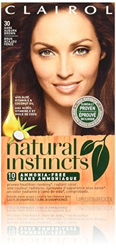 Clairol Natural Instincts Hair Color 30 Rosewood Dark Auburn Brown 1 Kit  Pack of 3 ** Check out the image by visiting the link.