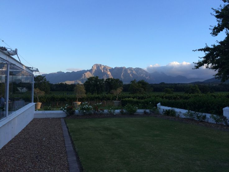 Beautiful views from Vrede en Lust, Frankschoek.