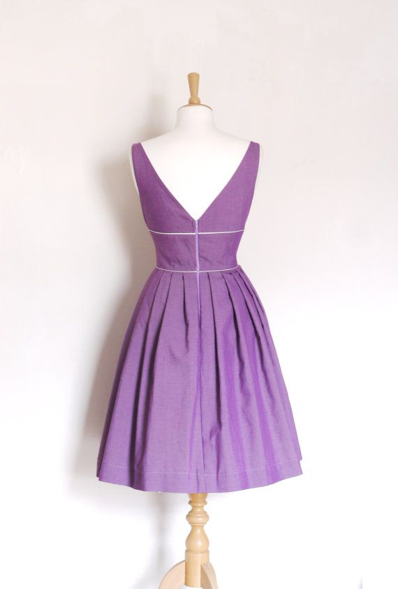 Lilac Vintage Cotton Tiffany Prom Dress  made by by digforvictory