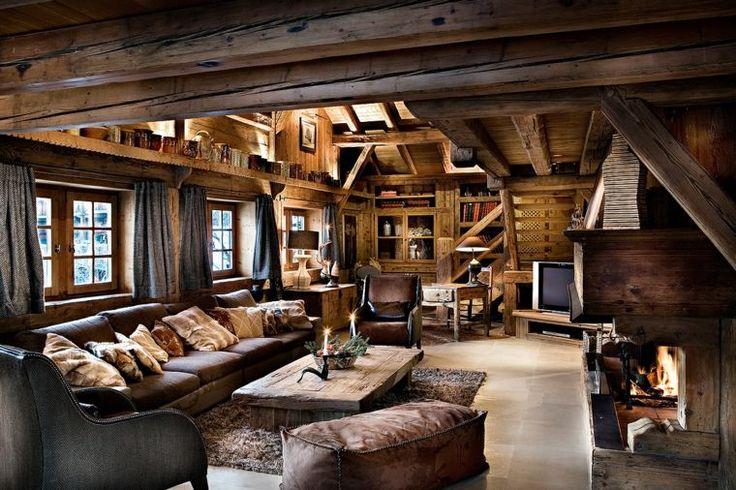 décoration d'intérieur : chalet montagne pour salon