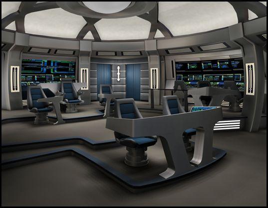 USS Discovery bridge