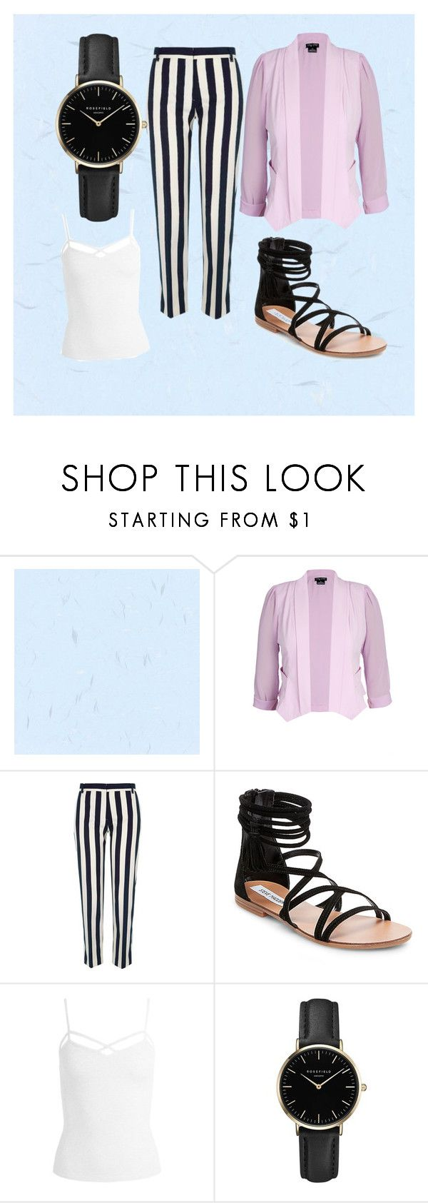 """""""stripes◼"""" by sinihanna on Polyvore featuring City Chic, River Island, Steve Madden, Sans Souci and ROSEFIELD"""