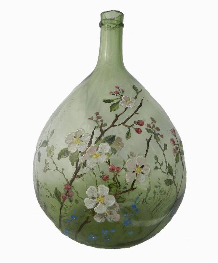 Oltre 25 fantastiche idee su bottiglie decorate su - Damigiane decorate ...