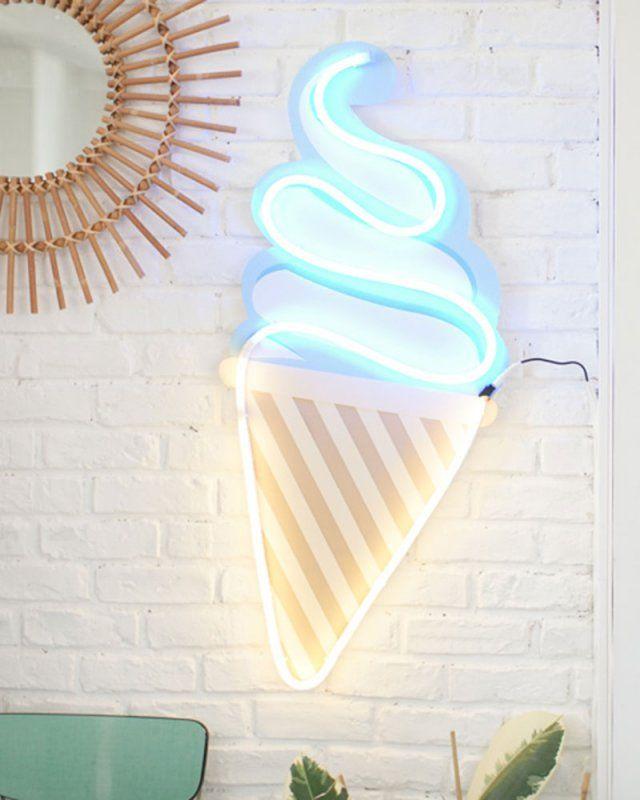 DIY néon en forme de glace DIY Icecream neon