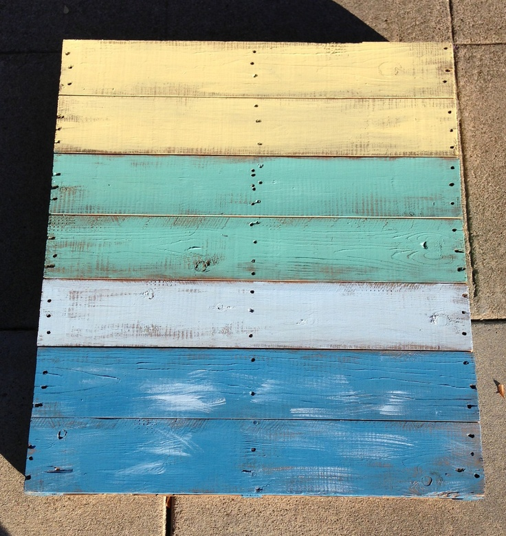 distressed beach pallet art 38 5 u0026quot  x 34 u0026quot    250 00  via etsy