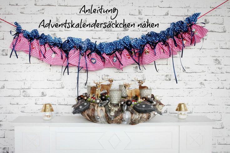 Anleitung Adventskalender nähen