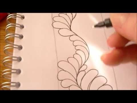 ▶ How to draw tanglepattern Flux (along a wavy line) - YouTube