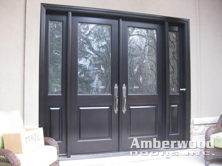Amberwood Doors Inc: This Stunning #Amberwood #custom #mahogany Double Entry