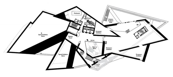 Denver Art Museum by Daniel Libeskind - Third Floor Plan