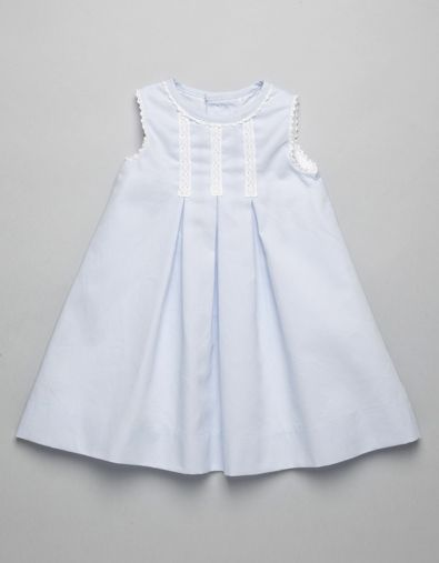 BLUE BABY LONG DRESS | Boy-and-Girl | Baby Clothes | Online Shop | Neck