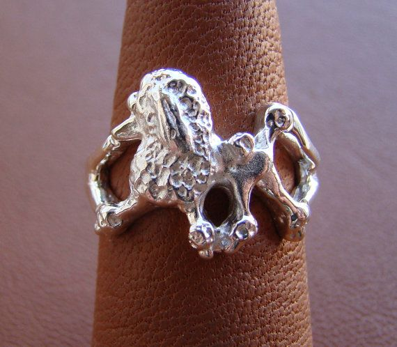 Hey, I found this really awesome Etsy listing at https://www.etsy.com/listing/164680781/sterling-silver-poodle-moving-study-ring