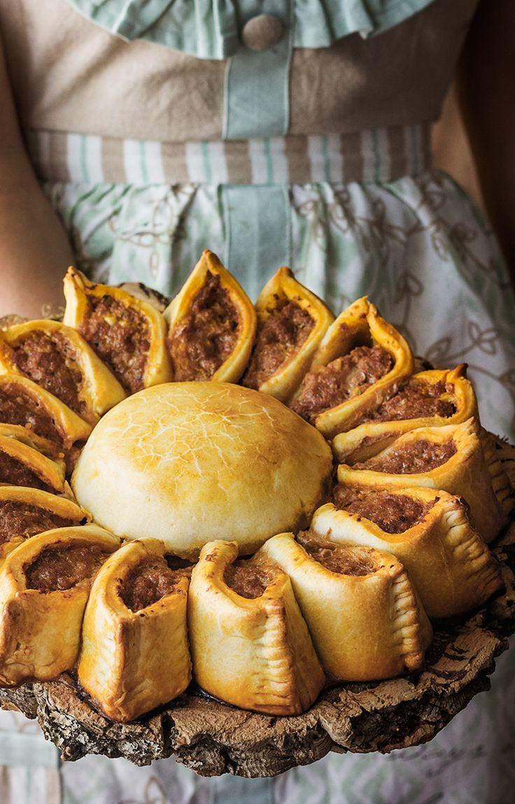 Kanela y Limón: Girasol de carne y queso