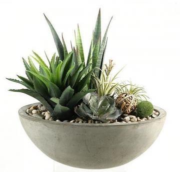 Mixed Succulents In Planter   Artificial Plants   Faux Plants |  HomeDecorators.com