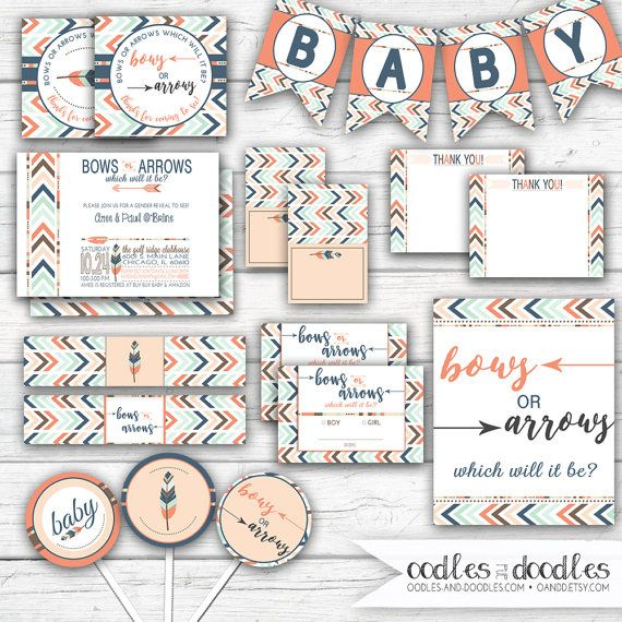 Bows or Arrows... Which will it be? Join us for a Gender Reveal to see! This boho chic Tribal Gender Reveal Party is perfect for that big baby annoucement