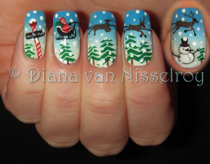 Santa's Sleigh by Diana van Nisselroy