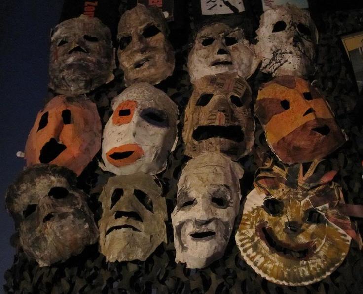 Michael Myers paper mache masks