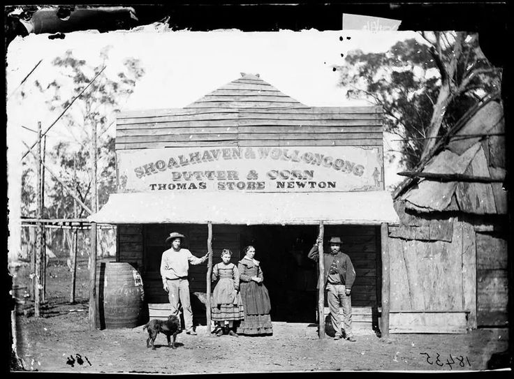Thomas Newton's Shoalhaven and Wollongong Butter and Corn Store in 1870.Photo from American and Australasian Photographic Company.A♥W