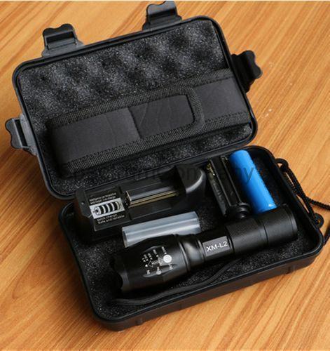 8000 Lumens CREE XM-L2 & T6 5Mode LED Torch Flashlight Kit w 18650 &