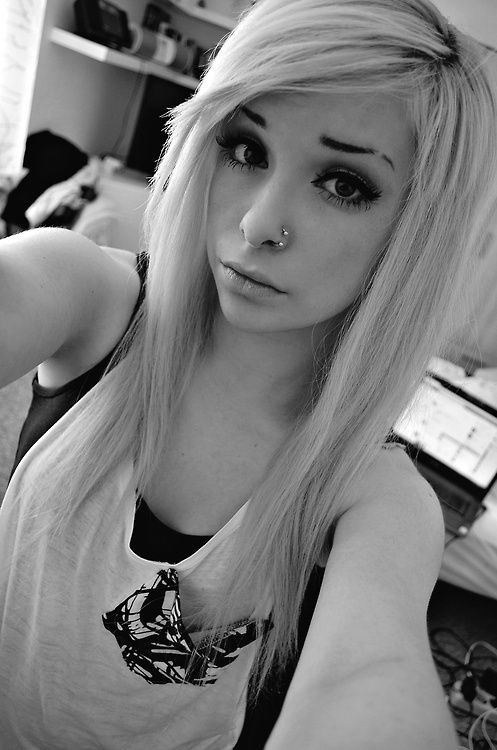 Pretty Blonde Hair Tumblr Cute Emo Girl On Tumblr