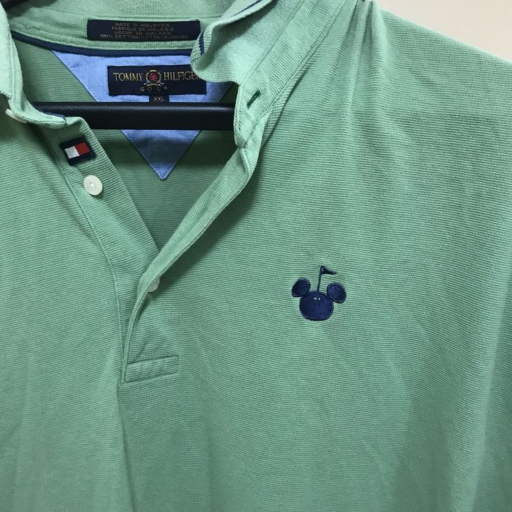 Tommy Hilfiger Mickey Mouse Disney Golf Embroidered Polo Shirt Size XL #TommyHilfiger #PoloRugby