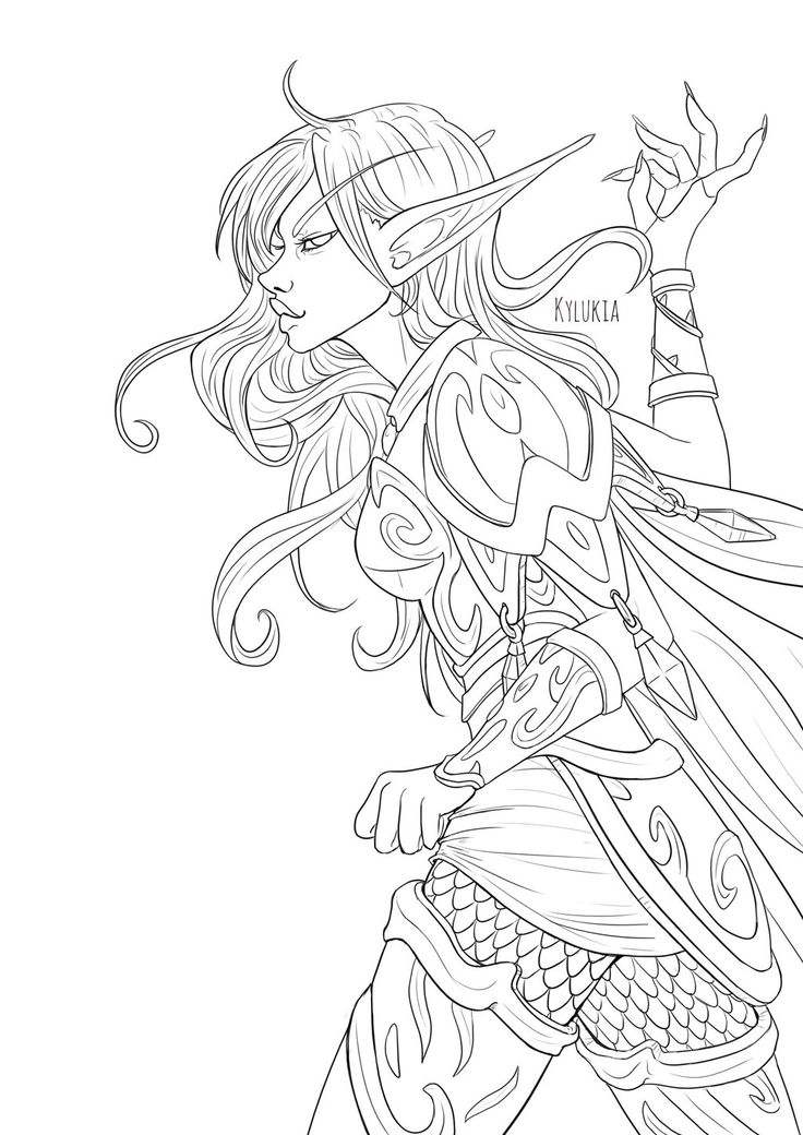 Blood elf by kylukia   Coloring Pages in 2019   Blood elf ...
