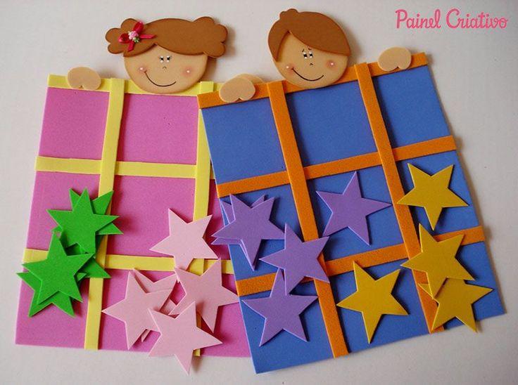 lembrancinha dia das criancas jogo da velha EVA menininho menininha brincadeira escola artesanato painel criativo 1                                                                                                                                                                                 Mais