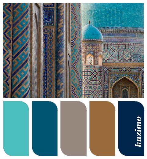 Turquoise, teal, taupe, caramel, navy-current fav colors. Probably because I am surrounded by them over here in Spain!