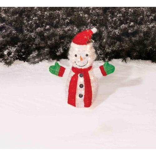 Holiday Time  Tinsel Santa Christmas Yard Decoration