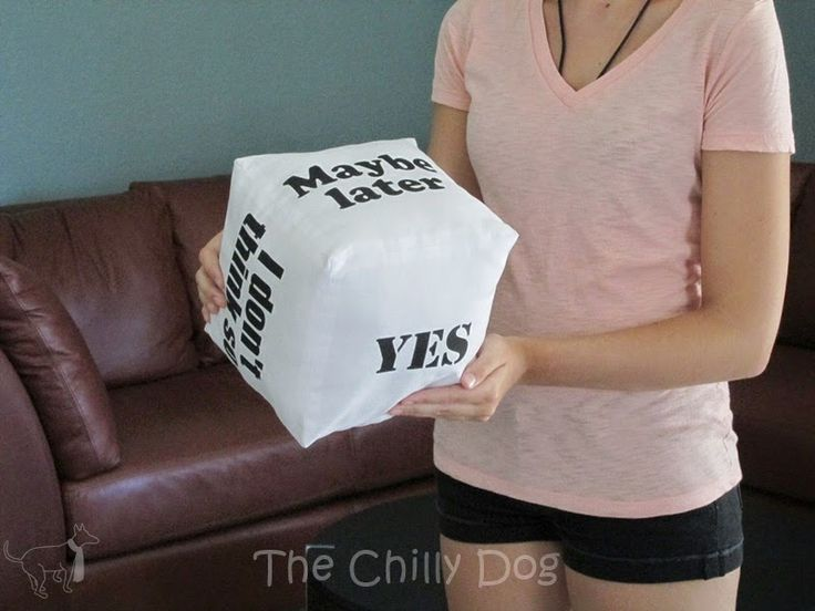 Sew a Decision Cube Pillow - A Little Craft In Your DayA Little Craft In Your Day