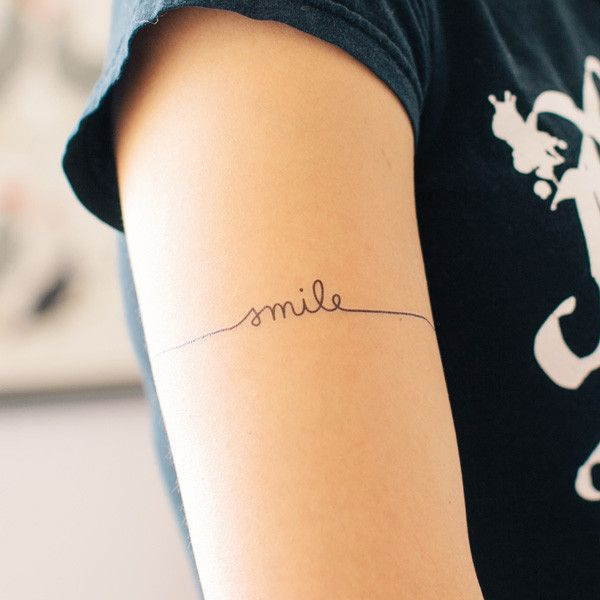 """Just Smile"": Tattly Temporary Tattoo"
