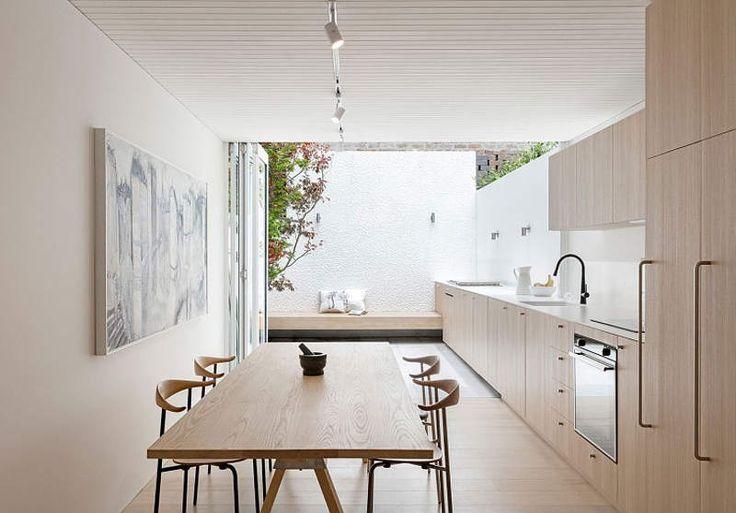 Modern indoor outdoor kitchen