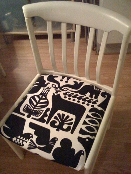 So reupholstering chairs sounds easy enough... I hope.    Marimekko Chair Upholstery