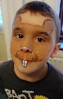 Hamster Face Paint! Look like your class hamster! https://www.facebook.com/EinsteintheClassHamster