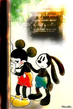 Sometimes you just miss people and that's ok.   Crying Mickey gets it :(