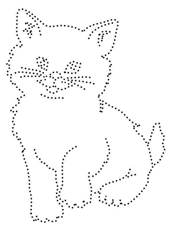 кошка пунктирная картинка того был