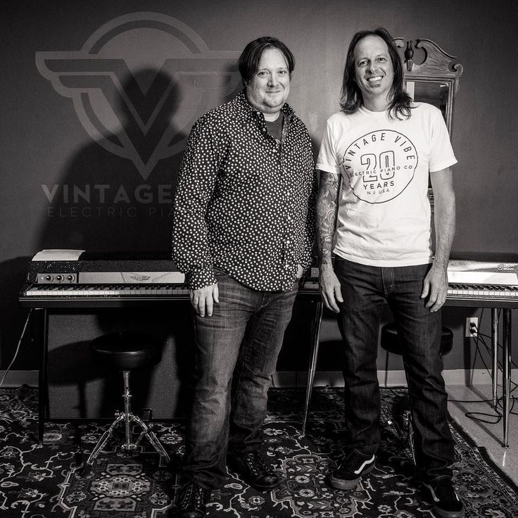 Big thanks to #DavePorter for stopping by our shop today and playing some Vintage Vibe Pianos! If you don't know Dave is responsible for creating the iconic @amcbreakingbad theme song along with composing all 62 episodes! He also composes for @bettercallsaulamc @preacheramc and @nbcblacklist! Fingers crossed our piano ends up in a show with a meth dealer/chemistry teacher       #vintagevibe #vintagevibepiano #composer #score #music #amc #breakingbad #bettercallsaul #preacher #blacklist…