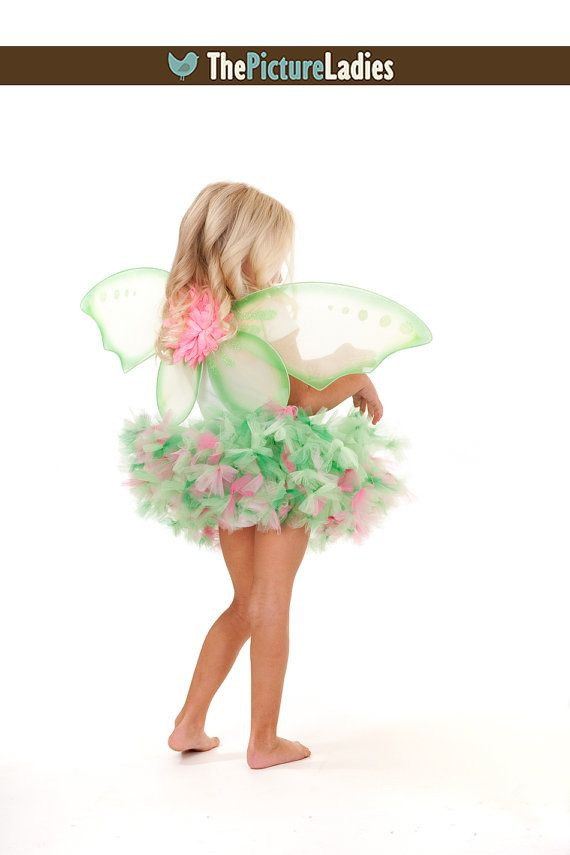 Whimsical Pink Tinkerbell Petti Tutu and Wings by PansyPieBoutique, $38.99