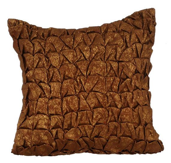 Brown Decorative Throw Pillow Covers Accent Leather