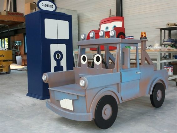 Toddler Tow Mater Cars Bed And Gasoline Wardrobe Closet