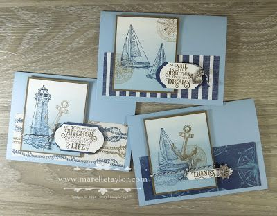 Sailing Home Stamp-a-Stack (Marelle Taylor Stampin' Up! Demonstrator Sydney Australia)