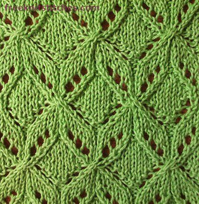 Bows knitting stitches