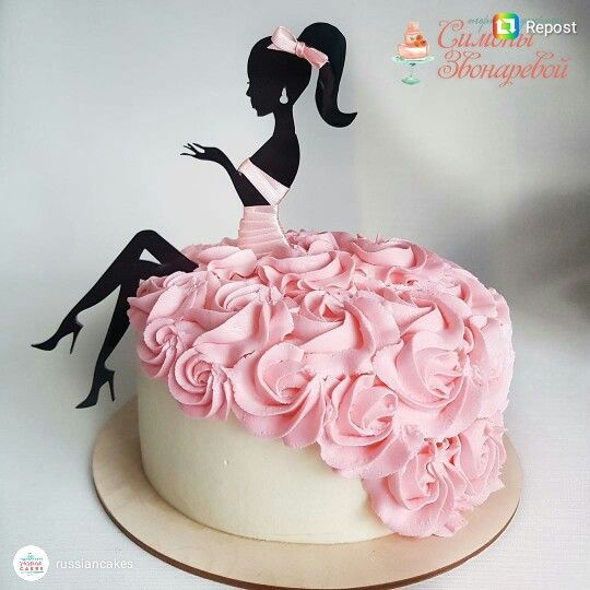 Darling fashion girl cake