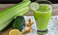 Jugo para eliminar el ácido úrico  Limon, Pepino, Jengibre y Apio. http://piun.net/remedio-natural-de-pepino-limon-apio-y-jengibre-para-eliminar-el-acido-urico/