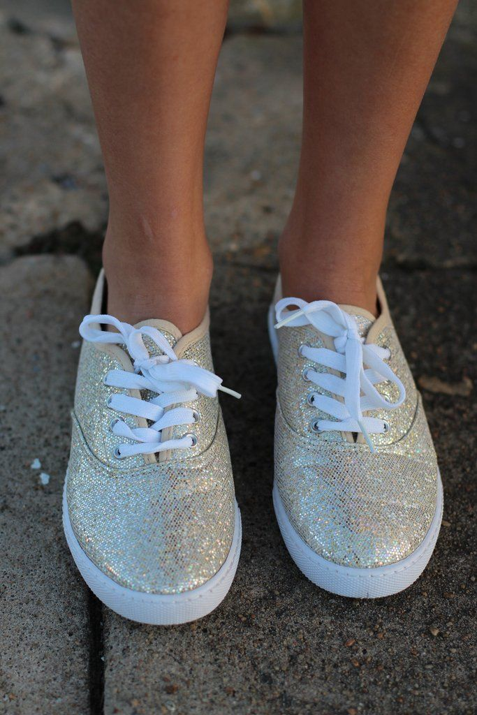 Favorite Sneakers {Gold Glitter} - The Fair Lady Boutique - 2