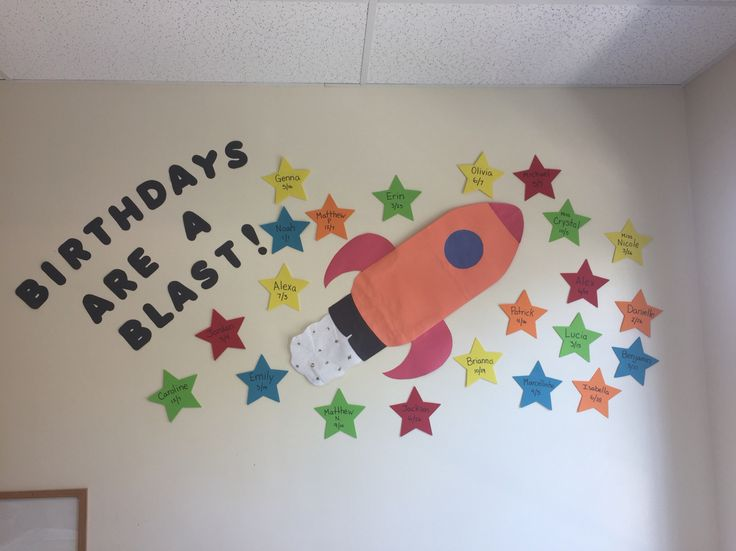 Made this birthday board for my preschool class!